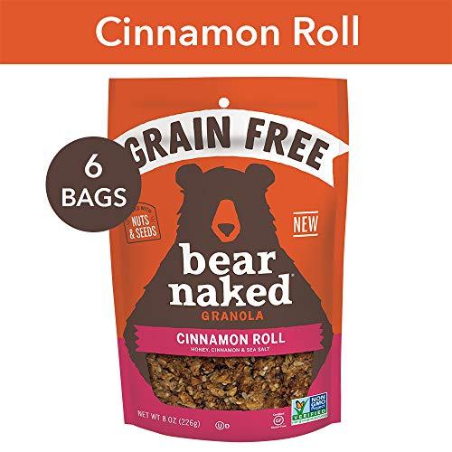 Bear Naked Bear Naked Cinnamon Roll Grain Free Granola - Paleo | Non-GMO | Kosher | Vegetarian Friendly - 8 Oz, 6Count (Best Paleo Cinnamon Rolls)