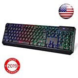 KLIM Chroma Wireless Gaming Keyboard - USB with Led Rainbow Lighting - Backlit