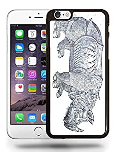 Hippopotamus Hippo Zoo Animal Drawing Sketch Art Phone Case Cover Designs for iPhone 6
