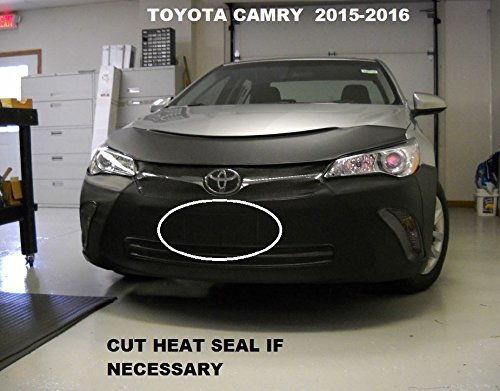 Lebra 2 piece Front End Cover Black - Car Mask Bra - Fits - 2015-2016 Toyota Camry