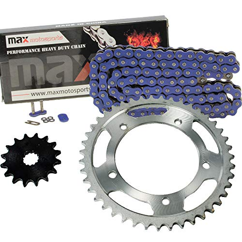 (Blue O-Ring Chain and Sprocket Kit for Suzuki GSXR600 2006 2007 2008 2009 2010)