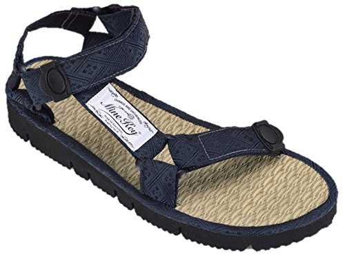 Mine Key Men's Natural Rushes Polyethylene Sandals L1(5-5.5) Navy by Mine Key