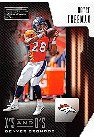 finest selection a8214 648be Amazon.com: 2018 Panini Playbook Xs and Os #22 Royce Freeman ...