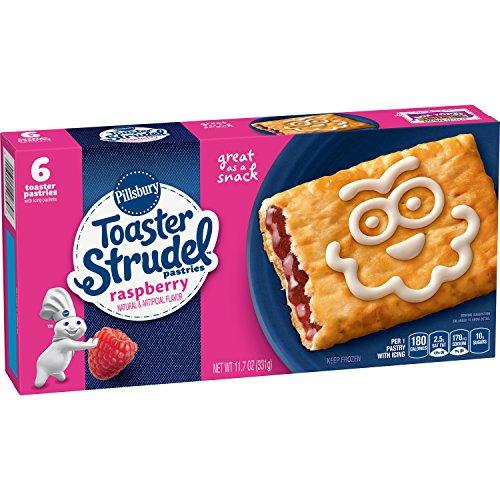 Pillsbury Toaster Strudel, Rasberry, 6 Frozen Pastries, 11.7 oz. Box (Toaster Pillsbury Strudel)