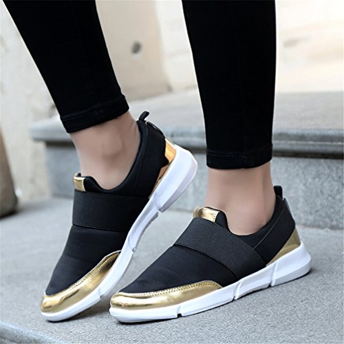 Lightweight Black Fashion Casual Women Breathable Shoes Sneakers Men on Slip Sports Mesh Gym Running Fitness LANYIER B BxagW7p