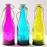 BRIGHT ZEAL 3 PCS Lifelike LED Wine Bottle Lights with Candle Flicker (9
