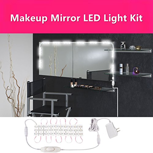 30 LEDs Make Up Mirror LED Light Kit for Cosmetic Makeup Vanity (Reflections Bedroom Vanity)