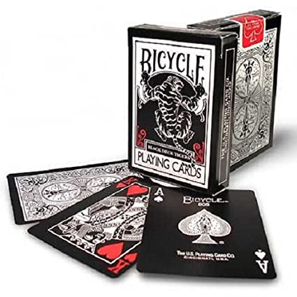 Bicycle Black Tiger Deck Playing Cards by Ellusionist - Red Pip by ellusionist.com INC