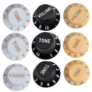 kmise electric guitar control speed knobs for fender strat stratocaster volume tone. Black Bedroom Furniture Sets. Home Design Ideas