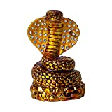 H&D Red Cobra Jeweled Enameled Metal Crystal Diamond Small Animal Figurine Collectible Ring Jewelry Holder (Cobra)
