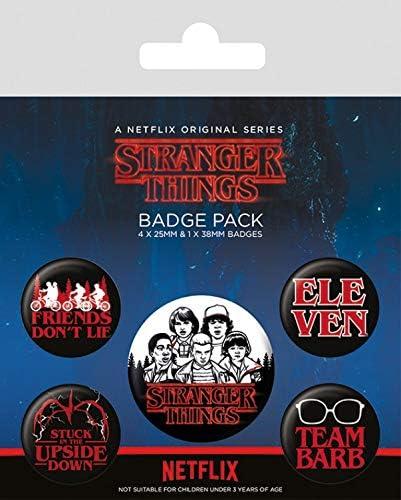 1art1 Stranger Things - Characters Set De Chapas (15 x 10cm): Amazon.es: Hogar