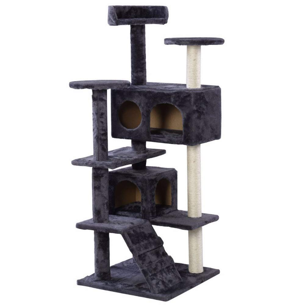 bluee ZHENGDY Multi-layer Cat Tree,Indoor Deluxe Cat Furniture,cat Rest Platform Covering The Pillars Of Sisal,bluee