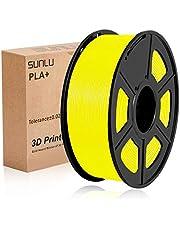 PLA+ Filament 1.75mm, SUNLU PLA plus Filament 1.75 1kg for 3D Printer 3D pen PLA+ Yellow