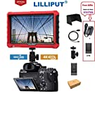 LILLIPUT A7S 7 Inch IPS 4K HDMI Camera Field Monitor Video Assist Full HD 1920x1200 DSLR Monitor with Peaking Focus False Colors F970 + LP-E6 Battery Plate