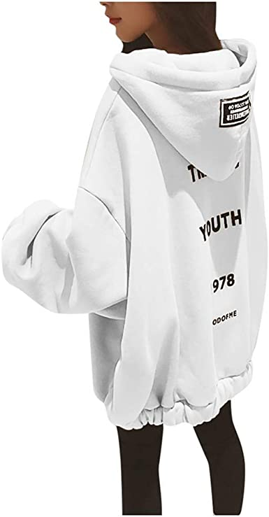 FOTBIMK Sweat-Shirt À Capuche À Manches Longues