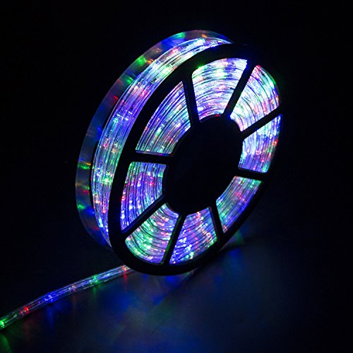 Diophros 50FT Rope Light, LED Strip Lights for Indoor Outdoor Rope Lighting Waterproof Decorative Lighting Backyards Garden and Party Decoration (Multicolor)