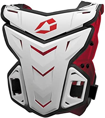 Large//X-Large 4333427303 663-3043-WPS-FBA White EVS F1 Adult Roost Guard MotoX//Off-Road//Dirt Bike Motorcycle Body Armor