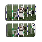 Lhaso Apso dog going through weaves on agility course cell phone cover case Samsung S5