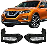 Lights Fits 2017-2018 Nissan Rogue | OE Style Fog Light Lamp Kit w/Switch & Wiring Pairs by IKON MOTORSPORTS