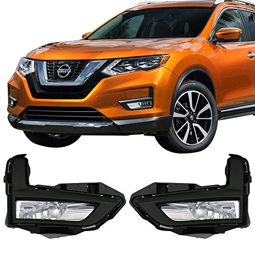 Style Fog Lights Kit - Lights Fits 2017-2018 Nissan Rogue | OE Style LED Fog Light Lamp Kit w/ Switch & Wiring Pairs by IKON MOTORSPORTS