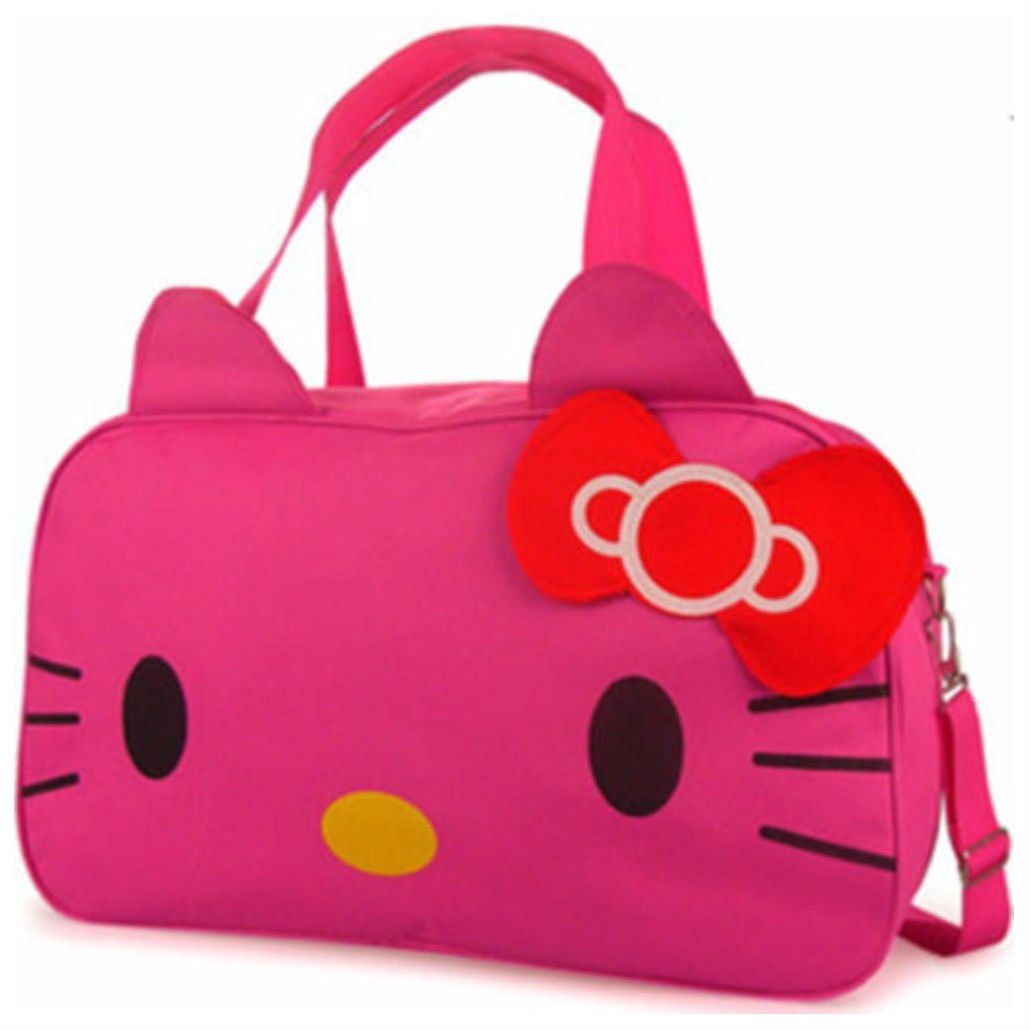 New Hellokitty Large Handbag with Shoulder strap purse (PINK)