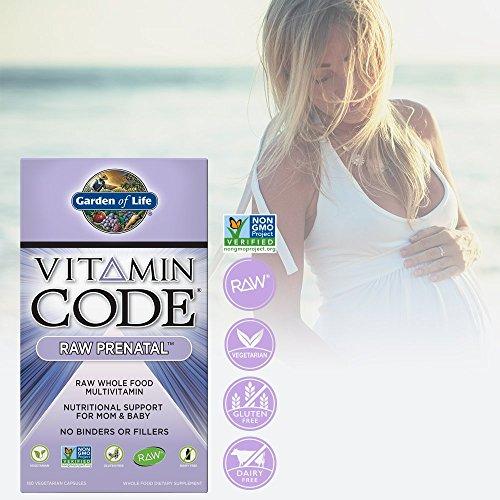 Garden Of Life Vegetarian Prenatal Multivitamin Supplement With Folate Vitamin Code Raw