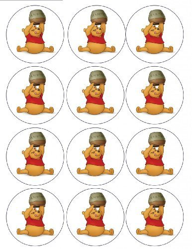 Single Source Party Supply - Winnie the Pooh Cupcakes Edible Icing Image #2 by Single Source Party Supplies