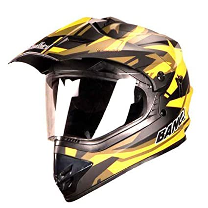 5867955d Steelbird SB-42 Airborne Matt Black with Yellow with Plain Visor with  P.Cap,600 mm: Amazon.in: Car & Motorbike