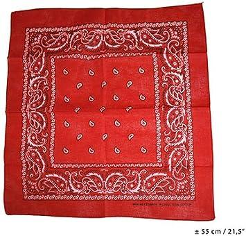 Vaquero de paliacate rojo 55 colormatchfor disfraz rockero: Amazon ...