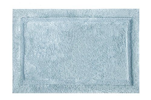 Grund Certified 100% Organic Cotton Bath Rug, Non Slip, Asheville Series,  24 Inch By 40 Inch, Denim Blue