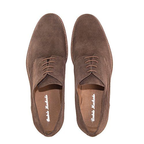 SerrajeCamel la y 47 Tallas Machado Andres a IN Made la Spain de Piel 6188 Zapatos Caballero 50 Serraje Oxford Grandes w7Hqq46Xx