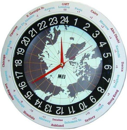 MFJ-115 Clock, 12/24-hour, analog, 12in