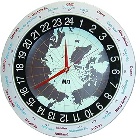 Amazon mfj 115 clock 1224 hour analog 12in sports outdoors mfj 115 clock 1224 hour analog 12in gumiabroncs Image collections