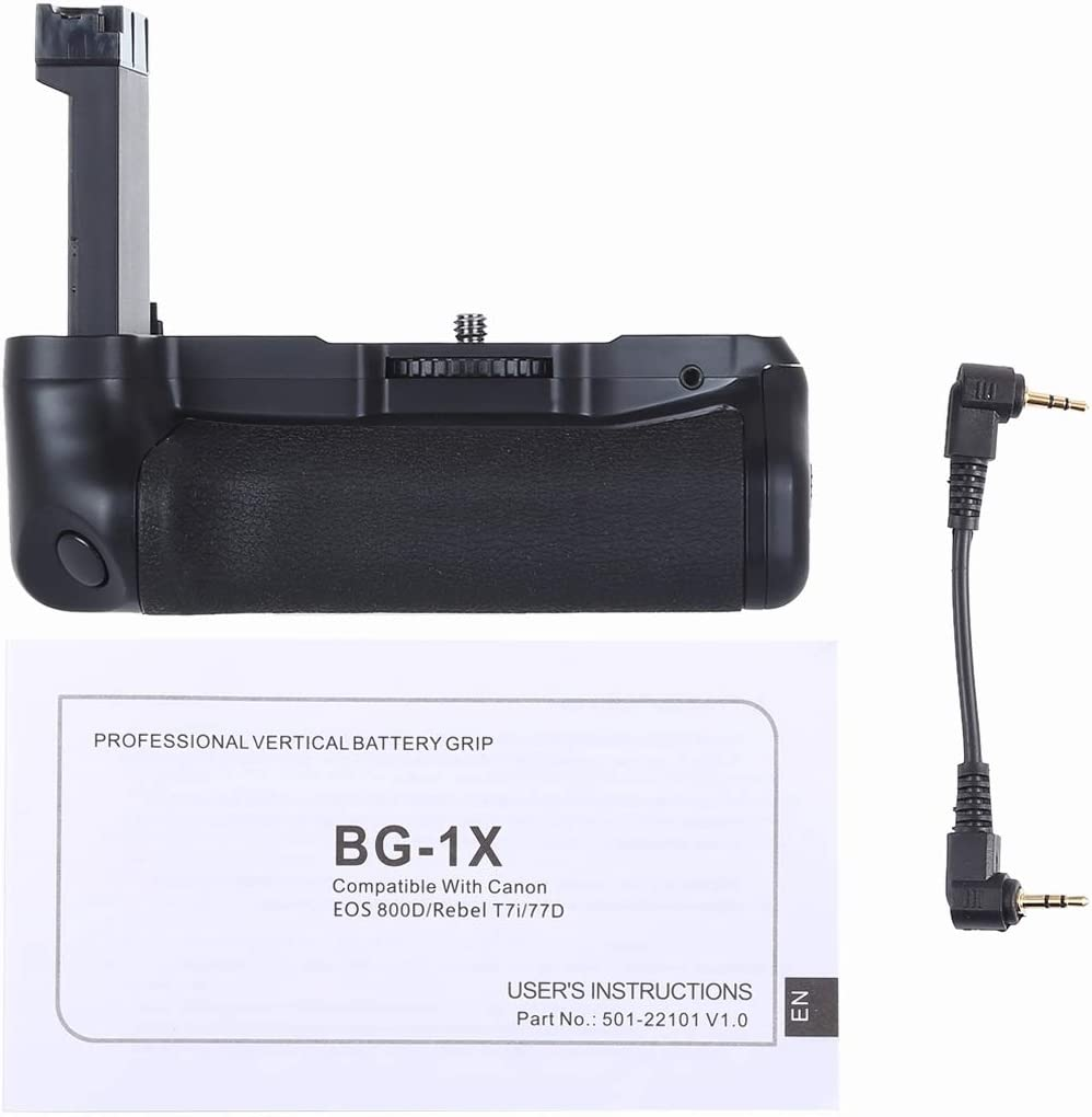 Rebel T7i Battery Grip Pack Vertical Camera Battery Grip for Canon EOS 800D 77D