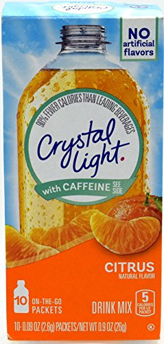 Go Citrus With Caffeine Drink Mix, 10-Packet Box (Pack of 5) (Citrus Crystal)