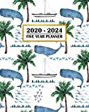2020-2024 Five Year Planner: Watercolor Whales and Boats Ocean Sailing Theme | 60 Month Calendar and Log Book | Business Team Time Management Plan | ... 5 Year - 2020 2021 2022 2023 2024 Calendar)