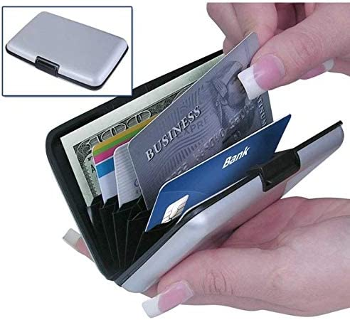 Black Card Wallet Holder RFID Blocking Security Wallet Driving License Credit Debit ID Oyster Card Holder