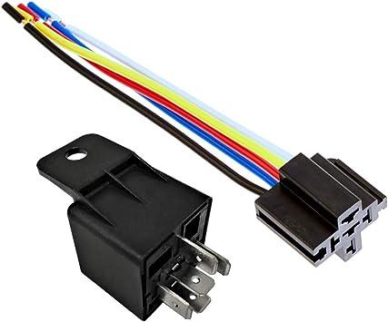 Amazon.com: 12V 30 40A SPDT Bosch Style Automotive Relays & 5 Wire Socket  Harness (1): AutomotiveAmazon.com