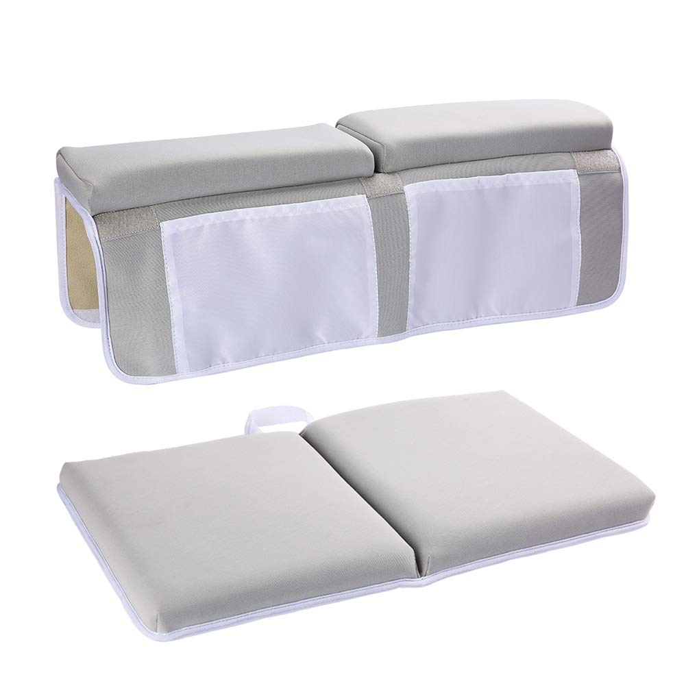 YXTY Bath Kneeler and Elbow Rest Set, Thick Baby Bath Kneeling Pad and Elbow Support, Comfort for Moms Dads to Bathe Kids Comfortably - Fits All Bathtubs(Gray) by YXTY