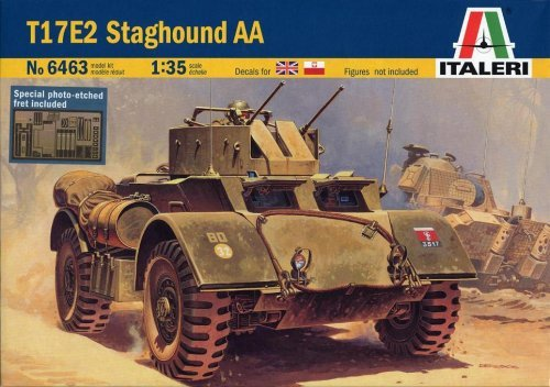 Italeri T17E2 Staghound AA Armored Car 1:35 Scale Model Kit # 6463