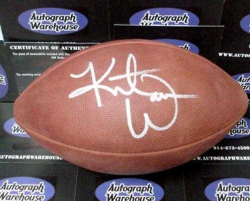 Kurt Warner Autographed Football - Kurt Warner autographed Football