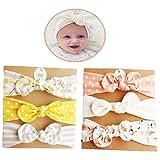 DANMY Baby Girl's Rabbit Ears Headband Cotton Cloth Elastic Hair Band Bow Boy Soft Turban (6pcs Bow(as Shown))