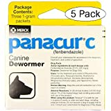 Panacur C Canine Dewormer Dogs 1 (3 Packets) Gram Each Packet Treats 10 lbs (Fivе Расk, Yellow)