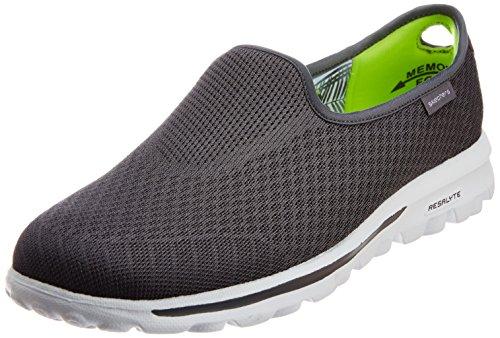 Skechers Gowalk Mezcla de deslizamiento ligero En la zapatilla de deporte gris