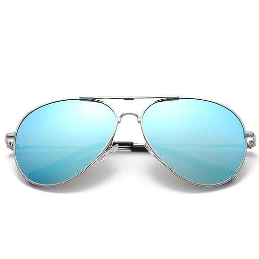 Yangjing-hl Gafas de Sol de Metal para Hombres Gafas de Sol ...