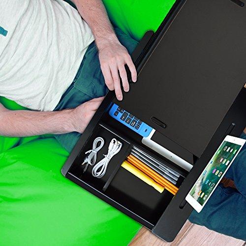 iCozy Portable Cushion Lap Desk With Storage - Zebra by iCozy (Image #4)