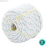 SKEMIDEX NEW 3/7 x 150' Double Braid Polyester Bull Rope Cord Sling, 5900Lbs Tensile Strength, Great for Tree Work, Cargo, Sailing, Rigging, Outdoor, Climbing, Camping, Marine, General Purpose