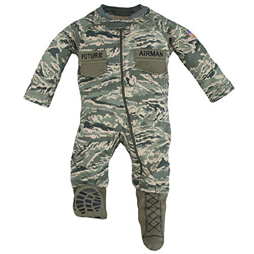 (Trendy Apparel Shop Infant Future Airman Camouflage Uniform Crawler - ACU - 6-9 Months )