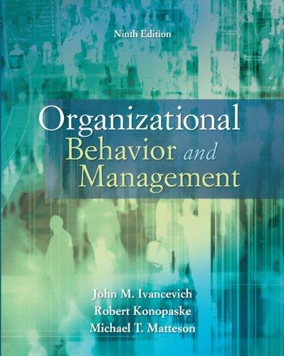management and organizational behaviour The foster school's department of management and organization advances the key pillars of strength: leadership, strategic thinking  organizational behavior.