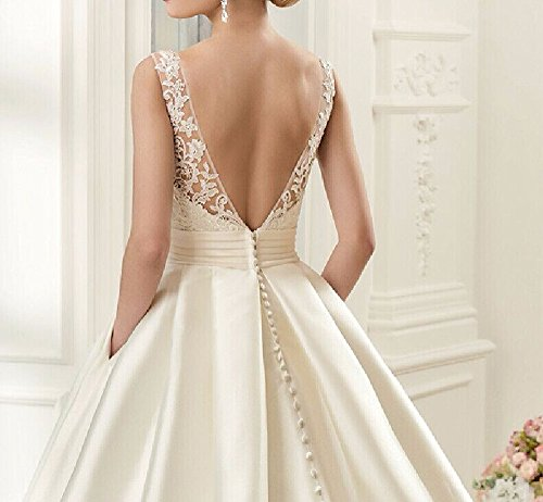 XJLY-Noble-Lace-Applique-Backless-Satin-Wedding-Dress-Bridal-Gowns-with-Pocket